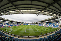 General view of the Stadium  before the International EURO U21 QUALIFYING - GROUP 9 match between England U21 and Norway U21 at the Weston Homes Community Stadium, Colchester, England on 6 September 2016. Photo by Andy Rowland / PRiME Media Images.