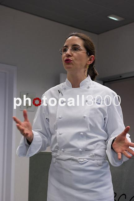 Elena Arzak durante  la Masterclass en el Basque Culinary Center