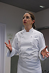 Elena Arzak durante  la Masterclass en el Basque Culinary Center