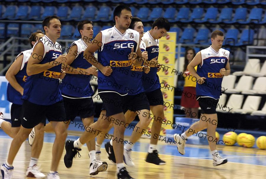 SPORT KOSARKA REPREZENTACIJA SRBIJA NATIONAL BASKETBALL TEAM Luka Bogdanovic Igor Rakocevic 6.7.2006. foto: Pedja Milosavljevic<br />