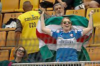 SAO PAULO, SP 28 SETEMBRO 2013 - PALMEIRAS X AMERICA NATAL - Torcida do Palmeiras durante início da partida. O palmeiras enfrenta o América de Natal, na tarde de hoje, 28, no Estádio do Pacaembu. foto: Paulo Fischer/Brazil Photo Press.