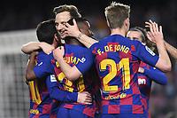 Ansu Fati, Messi, Rakitic<br /> Barcelona 02-02-2020 Camp Nou <br /> Football 2019/2020 La Liga <br /> Barcelona Vs Levante <br /> Photo Paco Larco / Panoramic / Insidefoto <br /> ITALY ONLY