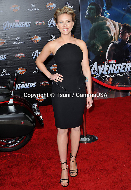Scarlett Johansson  at the Avengers Premiere at the El Capitan Theatre In Los Angeles.