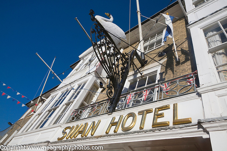 The historic Swan Hotel, Southwold, Suffolk, England