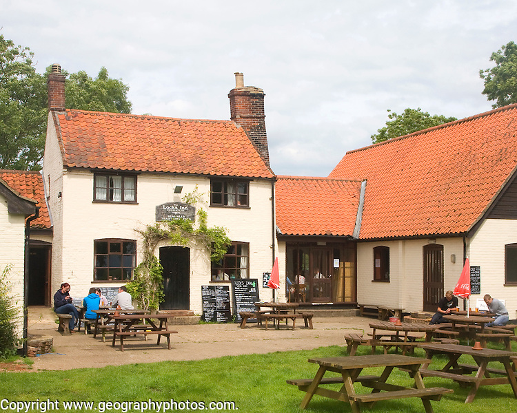 Historic Locks Inn at Geldeston Lock, Norfolk, England
