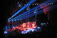 The Band Performing, featuring Show Lighting Design. Furthur Concert at Radio City Music Hall New York 24 February 2010