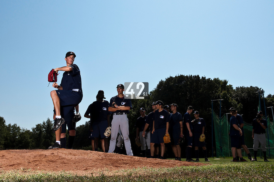 Baseball - MLB Academy - Tirrenia (Italy) - 19/08/2009 - Dylan Unsworth (South Africa)