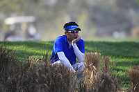A fan watching on the 3rd during Round 4 of the Hero Indian Open at the DLF Golf and Country Club on Sunday 11th March 2018.<br /> Picture:  Thos Caffrey / www.golffile.ie<br /> <br /> All photo usage must carry mandatory copyright credit (&copy; Golffile | Thos Caffrey)