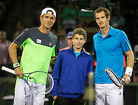 ANDY MURRAY (GBR), MATHEW EBDEN (AUS)<br /> Tennis - Sony Open - ATP-WTA -  Miami -  2014  - USA  -  21 March 2014. <br /> &copy; AMN IMAGES