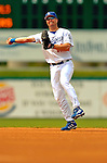 19 March 2006: Jeff Kent, infielder for the Los Angeles Dodgers, makes a throw to first during a Spring Training game against the Washington Nationals at Holeman Stadium, in Vero Beach, Florida. The Dodgers defeated the Nationals 9-1 in Grapefruit League play...Mandatory Photo Credit: Ed Wolfstein Photo..