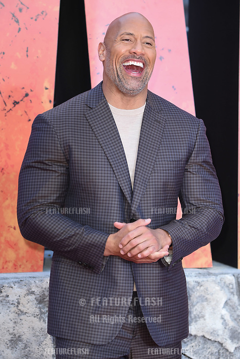 Dwayne Johnson arriving for the &quot;Rampage&quot; premiere at the Cineworld Empire Leicester Square, London, UK. <br /> 11 April  2018<br /> Picture: Steve Vas/Featureflash/SilverHub 0208 004 5359 sales@silverhubmedia.com