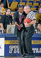Florida International University Head Coach Isiah Thomas during the game against Florida Atlantic University, which won the game 66-64 on January 21, 2012 at Miami, Florida. .