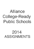 ALLIANCE 2014 ASSIGNMENTS