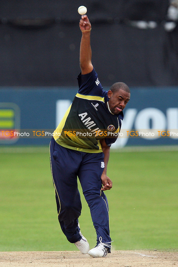 Mervyn Westfield in bowling action for Essex - Essex CCC 2nd XI vs Lancashire CCC 2nd XI - Second XI Trophy Final at the Ford County Ground, Chelmsford - 13/09/10 - MANDATORY CREDIT: Gavin Ellis/TGSPHOTO - SELF-BILLING APPLIES WHERE APPROPRIATE. NO UNPAID USE. TEL: 0845 094 6026