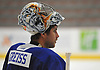 Thomas Greiss #1, New York Islanders goalie, practices during team training camp at Northwell Health Ice Center in East Meadow on Friday, Sept. 15, 2017.