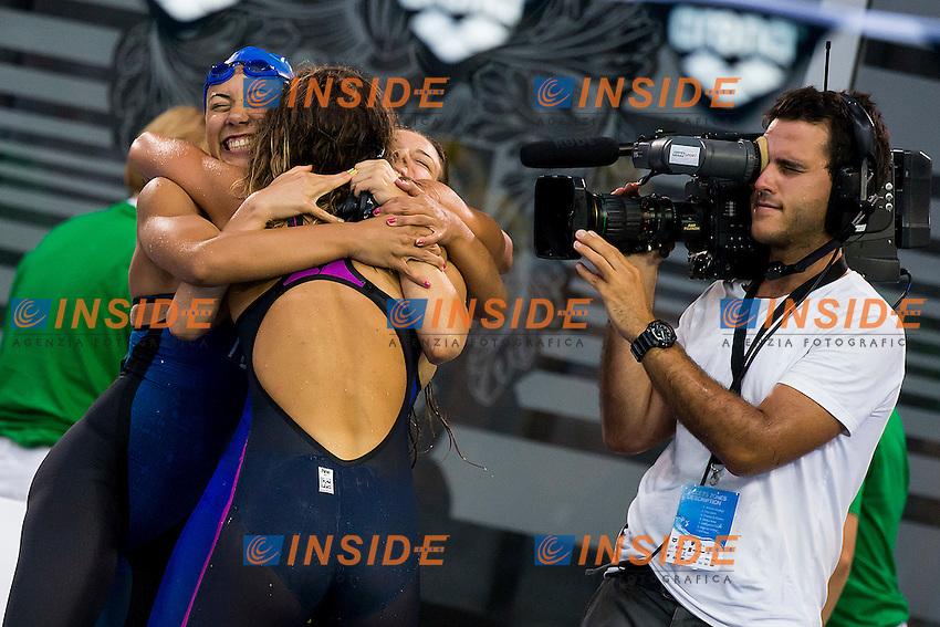Team Italy ITA<br /> 4X100 Medley Relay Men Final Silver Medal<br /> LEN 43rd Arena European Junior Swimming Championships<br /> Hodmezovasarhely, Hungary <br /> Day03 08-07-2016<br /> Photo Andrea Masini/Deepbluemedia/Insidefoto