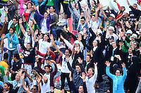 RIO DE JANEIRO, RJ, 28 DE JULHO DE 2013 -JMJ RIO 2013-MISSA DO ENVIO COM O PAPA  Maior flashmob do mundo na praia de Copacabana, com aproximadamente 3 milhões de pessoas, em Copacabana, zona sul do Rio de Janeiro.FOTO:MARCELO FONSECA/BRAZIL PHOTO PRESS