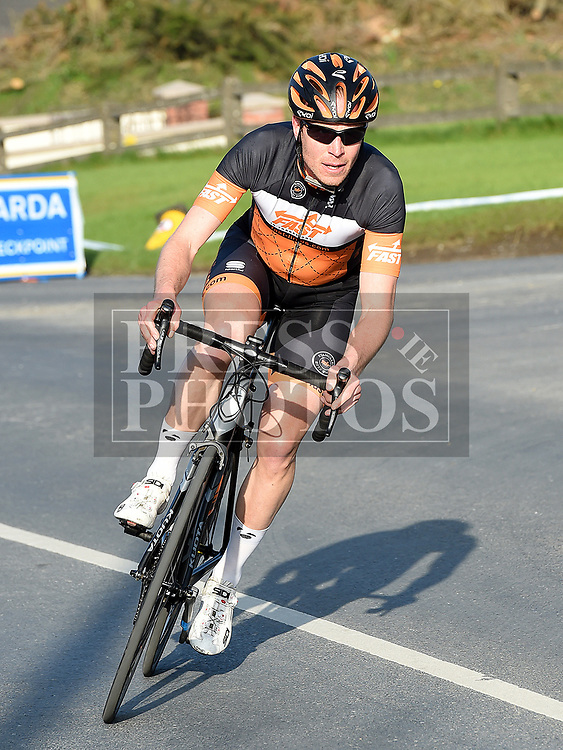 Cian Delaney riding for Stamullen MD Road Club in the 10th Anniversary edition of the Peter Bidwell Memorial cycle race at Donore. Photo:Colin Bell/pressphotos.ie