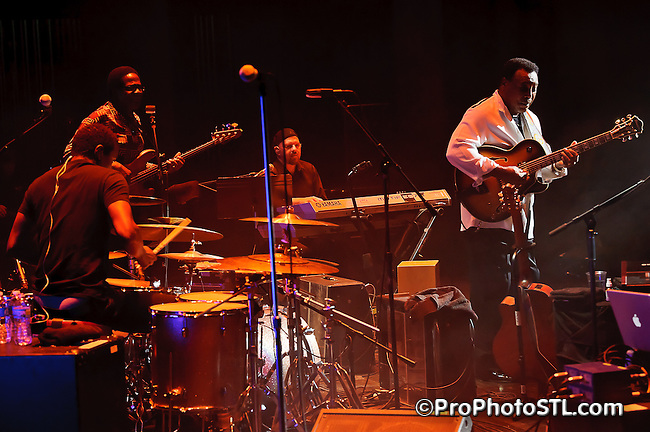 Guitarist George Benson in concert at Blanche M. Touhill Performing Arts Center on the campus of the University of Missouri-St. Louis on Oct 2, 2011.