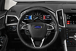 Car pictures of steering wheel view of a 2018 Ford Edge Sport 5 Door SUV