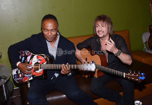HOLLYWOOD, CA- APRIL 24: Ray Parker, Jr., left, and Richie Sambora are seen at the 2014 ASCAP EXPO at the Loews Hollywood Hotel on April 24, 2014 in Hollywood, California. PG213/MediaPunch