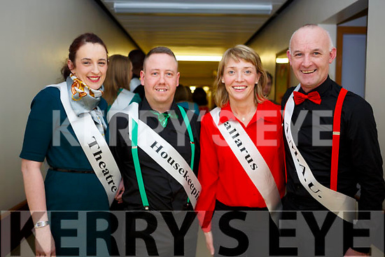 UHK staff members, l to r, Deborah Meehan, Gavin Green, Catriona Kennedy and Patrick White launching their Strictly Come Dancing for Chemotherapy Day Unit in University Hospital Kerry  on Thursday last.