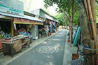 Lane leading from main road down to Senggigi Harbour. No hassling from shop-owners, no pressure to buy, no crowd . . .