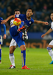Leonardo Ulloa of Leicester City holds up the ball - English Premier League - Leicester City vs Chelsea - King Power Stadium - Leicester - England - 14th December 2015 - Picture Simon Bellis/Sportimage