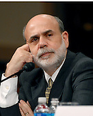 """Washington, D.C. - September 23, 2008 -- Washington, D.C. - September 23, 2008 -- Honorable Ben S. Bernanke, Chairman, Board of Governors of the Federal Reserve System, testifies before the United States Senate Committee on Banking, Housing and Urban Affairs on """"Turmoil in US Credit Markets: Recent Actions Regarding Government Sponsored Entities, Investment Banks and Other Financial Institutions"""" in Washington, D.C. on Tuesday, September 23, 2008.  The hearing focused on the United States Government's proposed 700 billion U.S. dollar bail-out of the banking system caused by poor lending practices of U.S. banks.<br /> Credit: Ron Sachs / CNP"""