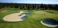 Golfing landscape of the 2nd hole on the Broken Top course. Bend, Oregon.
