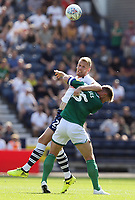 Preston North End's Jayden Stockley battles with  Sheffield Wednesday's Tom Lees<br /> <br /> Photographer Rich Linley/CameraSport<br /> <br /> The Premier League - Preston North End v Sheffield Wednesday - Saturday August 24th 2019 - Deepdale Stadium - Preston<br /> <br /> World Copyright © 2019 CameraSport. All rights reserved. 43 Linden Ave. Countesthorpe. Leicester. England. LE8 5PG - Tel: +44 (0) 116 277 4147 - admin@camerasport.com - www.camerasport.com