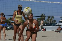 Saturday, May 3 2008, Ocean Beach, California, USA.  West Coast Beach Volleyball Tournament  Images taken during play at the West Coast Volleyball Tournament.