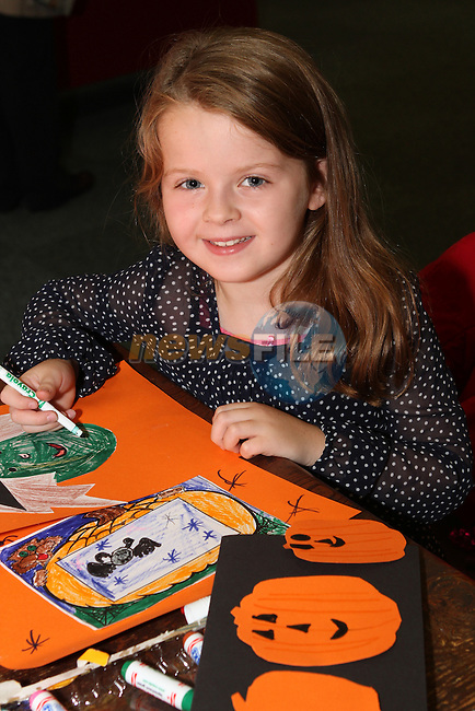 Clara London at the Halloween Workshop in Drogheda Library...(Photo credit should read Jenny Matthews/NEWSFILE)...