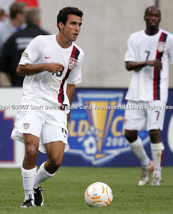 21 June 2007:  United States defender Jonathan Bornstein (13). The United States Men's National Team defeated the national team of Canada 2-1 in a CONCACAF Gold Cup Semifinal match at Soldier Field in Chicago, Illinois.