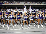 TCU cheerleaders in action during the game between the Grambling State Tigers and the TCU Horned Frogs  at the Amon G. Carter Stadium in Fort Worth, Texas. TCU defeats Grambling State 59 to 0.