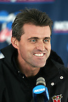 10 December 2005: Head coach Sasho Cirovski. The University of Maryland Terrapins held a press conference the day before playing in the NCAA Men's College Cup, the Division I Championship soccer game, at SAS Stadium in Cary, NC..