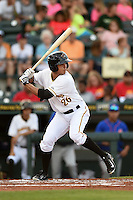 Bradenton Marauders outfielder Justin Maffei (26) at bat during a game against the St. Lucie Mets on April 11, 2015 at McKechnie Field in Bradenton, Florida.  St. Lucie defeated Bradenton 3-2.  (Mike Janes/Four Seam Images)