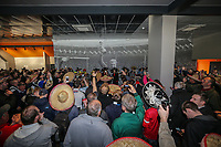 Mariachi band Beato Burrito hired by Grimsby Town fans after Barnet put a ban on inflatables in the ground entertain the Grimsby Town fans ahead of the Sky Bet League 2 match between Barnet and Grimsby Town at The Hive, London, England on 29 April 2017. Photo by David Horn.