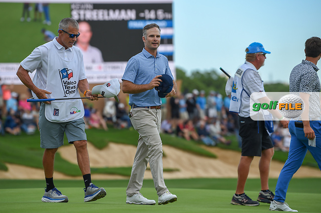 Kevin Streelman (USA) departs the green on 18 during day 4 of the Valero Texas Open, at the TPC San Antonio Oaks Course, San Antonio, Texas, USA. 4/7/2019.<br /> Picture: Golffile   Ken Murray<br /> <br /> <br /> All photo usage must carry mandatory copyright credit (© Golffile   Ken Murray)