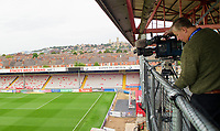 A general view of Sincil Bank, home of Lincoln City, showing the new TV gantry<br /> <br /> Photographer Andrew Vaughan/CameraSport<br /> <br /> The EFL Sky Bet League One - Lincoln City v Sunderland - Saturday 5th October 2019 - Sincil Bank - Lincoln<br /> <br /> World Copyright © 2019 CameraSport. All rights reserved. 43 Linden Ave. Countesthorpe. Leicester. England. LE8 5PG - Tel: +44 (0) 116 277 4147 - admin@camerasport.com - www.camerasport.com