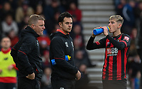 Bournemouth manager Eddie Howe (left) and BournemouthHead of Sports Science, Dan Hodges  giving instructions to Bournemouth's David Brooks from the technical area<br /> <br /> Photographer David Horton/CameraSport<br /> <br /> The Premier League - Bournemouth v Liverpool - Saturday 8th December 2018 - Vitality Stadium - Bournemouth<br /> <br /> World Copyright © 2018 CameraSport. All rights reserved. 43 Linden Ave. Countesthorpe. Leicester. England. LE8 5PG - Tel: +44 (0) 116 277 4147 - admin@camerasport.com - www.camerasport.com