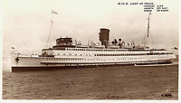 BNPS.co.uk (01202 558833)<br /> Pic: MattCain/BNPS<br /> <br /> A postcard featuring the passenger ship RMS Lady of Mann. <br /> <br /> A lifeboat which was present at Dunkirk is set to sail there on the 80th anniversary of the mass evacuation after being painstakingly restored.<br /> <br /> The Lady of Mann was lifeboat number eight on board the passenger ship RMS Lady of Mann, which brought 4,262 men back to England in May 1940.<br /> <br /> It was also on the Isle of Man Steam Packet Company vessel when it carried six landing craft, 55 officers and 435 troops to Juno Beach on D-Day in June 1944.<br /> <br /> After the ship was broken up in 1971, the 27ft lifeboat was sold off and converted into a fishing boat which operated out of Maldon, Essex. It had been languishing in a rotting, dilapidated state in an Essex boatyard when IT manager Matt Cain paid £3,000 for it in 2009 after spotting it for sale online.<br /> <br /> The boat sank at its mooring in Windsor, Berks, during the floods of February 2014. Since then, Mr Cain, whose grandfather was evacuated at Dunkirk, has spent over £30,000 returning it to its former glory.