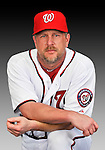 25 February 2011: Matt Stairs poses for his Washington Nationals Photo Day portrait at Space Coast Stadium in Viera, Florida. Mandatory Credit: Ed Wolfstein Photo