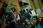 © Remi OCHLIK/IP3 -   Benghazi  March 15, 2011 - In front of the court house in Benghazi people celebrate the fact that opposition fighters still hold the key port town of Ajdabiya..At the same time Gadhafi forces said they are in the control of the city.