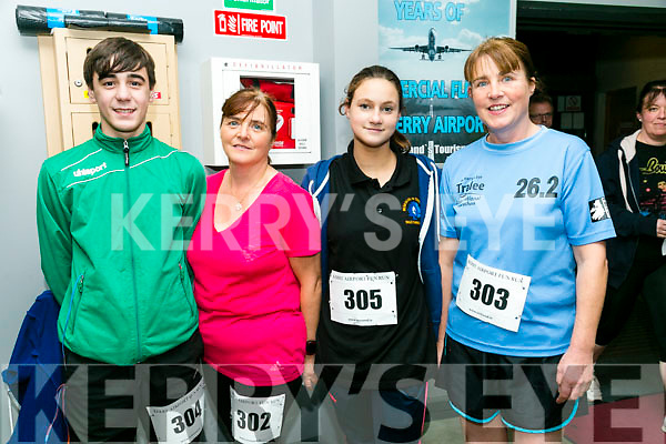 Jerry Griffin, Catherine Griffin, Mia Griffin and Gretta Quirke from Keel and farmers Bridge at the Kerry Airport Runway 5k Fun Run 7th October in aid of Cystic Fibrosis supported by The Rugby clubs of West Munster sponsored by Garveys Supervalu Group