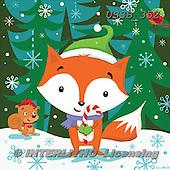Sarah, CHRISTMAS ANIMALS, WEIHNACHTEN TIERE, NAVIDAD ANIMALES, paintings+++++Xmasfox-14-A,USSB352,#xa#