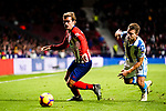 Antoine Griezmann of Atletico de Madrid (L) in action against Kevin Rodrigues of Real Sociedad (R) during the La Liga 2018-19 match between Atletico de Madrid and Real Sociedad at Wanda Metropolitano on October 27 2018 in Madrid, Spain.  Photo by Diego Souto / Power Sport Images