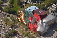 Aerial of the Experience Music Project at Seattle Center