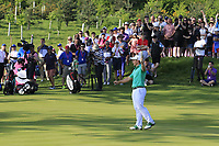 Paul Dunne of Team Ireland during day 2 of the GolfSixes played at The Centurion Club, St Albans, England. <br /> 06/05/2018.<br /> Picture: Golffile | Phil Inglis<br /> <br /> <br /> All photo usage must carry mandatory copyright credit (&copy; Golffile | Phil Inglis)