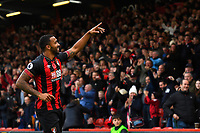 Callum Wilson of AFC Bournemouth celebrates after scoring the first goal during AFC Bournemouth vs Manchester United, Premier League Football at the Vitality Stadium on 3rd November 2018